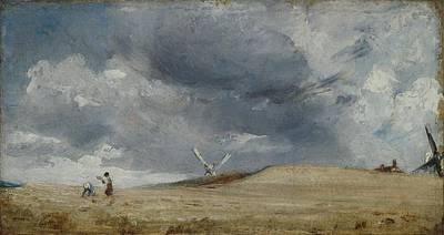 The Gleaners Painting - The Gleaners by John Constable