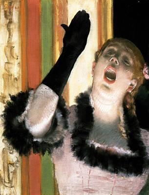 Ladies Painting - The Glove by Edgar Degas