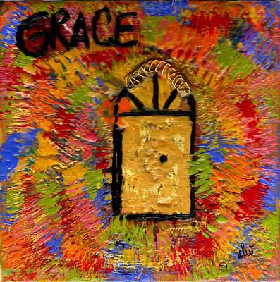 Mixed Media - The Golden Door Of Grace by Angela L Walker