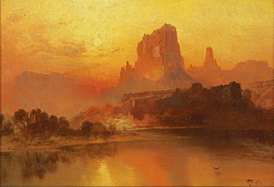 The Golden Hour, 1875 Art Print by Thomas Moran