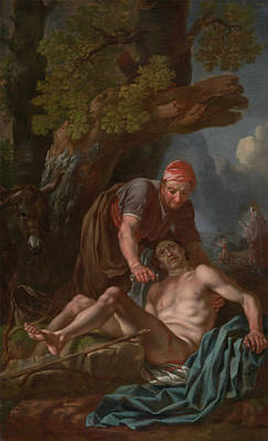 Francis Hayman Painting - The Good Samaritan by Francis Hayman