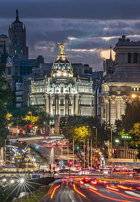 The Gran Via Madrid Spain Art Print by Ayhan Altun