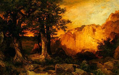 Canyons Painting - The Grand Canyon by Thomas Moran