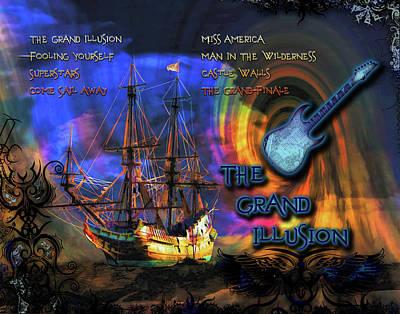 Digital Art - The Grand Illusion by Michael Damiani
