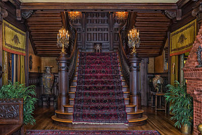 Beaumont Photograph - The Grand Staircase Of The Mcfaddin-ward House by Mountain Dreams