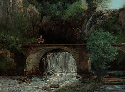 Painting - The Great Bridge by Gustave Courbet