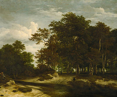 Rural Painting - The Great Forest by Jacob van Ruisdael