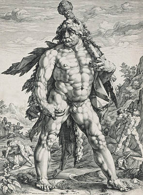 Relief - The Great Hercules by Hendrik Goltzius