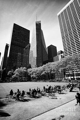 the great lawn in bryant park New York City USA Art Print