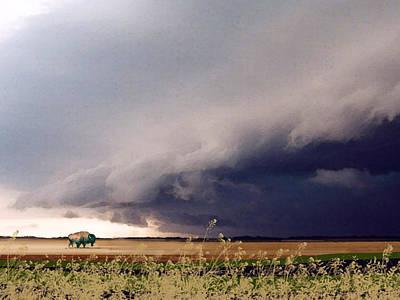 Storm Clouds Painting - The Great Plains by Paul Sachtleben
