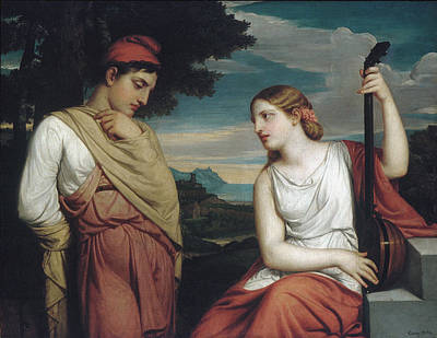 The Greek Lovers Art Print by Henry Peters Gray