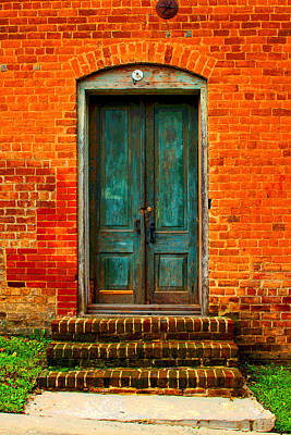 The Green Door Art Print