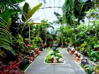 Digital Art - The Greenhouse by Ed Weidman