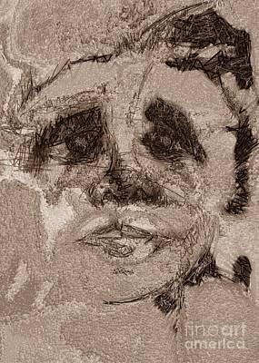 The Grieving Man Art Print