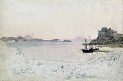 Painting - The Gulf Of Pozzuoli by Johann Heinrich Schilbach