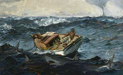 Winslow Homer Seascape Digital Art - The Gulf Stream by Winslow Homer