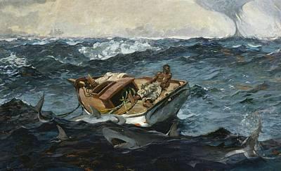 Best Sellers - Transportation Digital Art - The Gulf Stream by Winslow Homer
