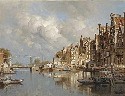 Veer Painting - The Haagse Veer by Johannes Karel