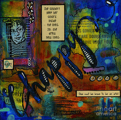 Mixed Media - The Happy Artist by Angela L Walker