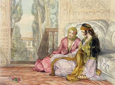 Istanbul Painting - The Harem by John Frederick Lewis
