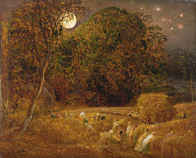 Painting - The Harvest Moon by Celestial Images