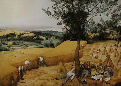 The Harvesters Art Print by Pieter Bruegel the Elder