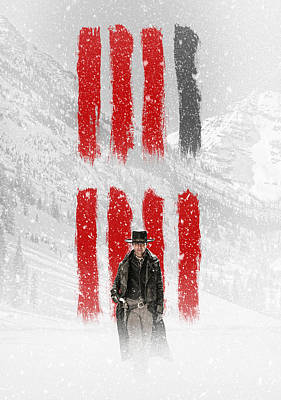 Eight Digital Art - The Hateful Eight 2015  by Fine Artist