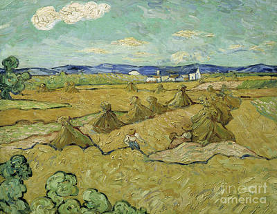 Painting - The Haystacks by Vincent Van Gogh