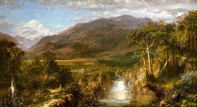 Gravesite Painting - The Heart Of The Andes by Frederick Edwin Church