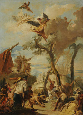 Painting - The Hebrews Gathering Manna In The Wilderness by Giovanni Battista Tiepolo