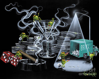 Martini Painting - The Heist by Michael Godard