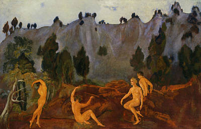 The Eight Painting - The Hesitation Of Orestes by Arthur Bowen Davies