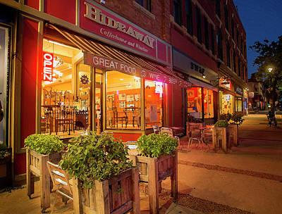 Photograph - The Hideaway Coffee Shop - Painted Look by Joe Miller