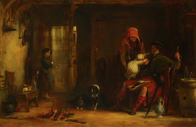 Scottish Dog Painting - The Highland Family by Sir David Wilkie