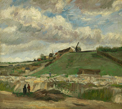 Painting - The Hill Of Montmartre With Stone Quarry by Vincent van Gogh