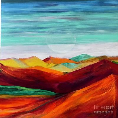 Art Print featuring the painting The Hills Are Alive by Kim Nelson