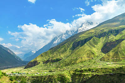 Photograph - The Himalayan Region In Badrinath, North India by Nila Newsom