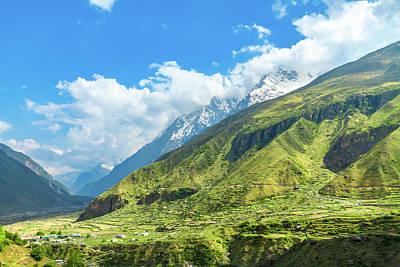 Photograph - The Himalayan Region In Badrinath, North India by Nila Newsom