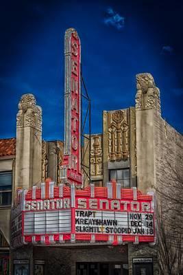 Relief Art Photograph - The Historic Senator Theatre by Mountain Dreams