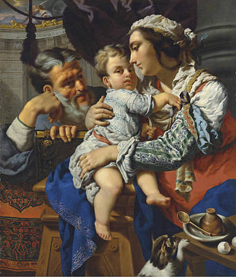 Painting - The Holy Family by Alessandro Rosi