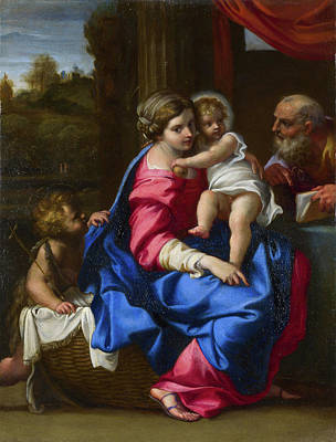 John The Baptist Painting - The Holy Family With The Infant Saint John The Baptist by Annibale Carracci