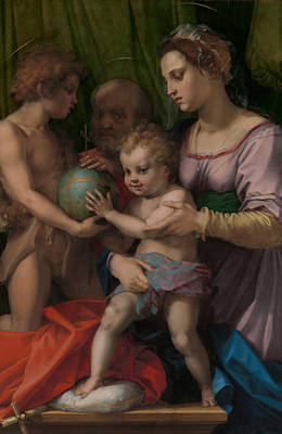 Saint John The Baptist Painting - The Holy Family With The Young Saint John The Baptist  by Andrea del Sarto
