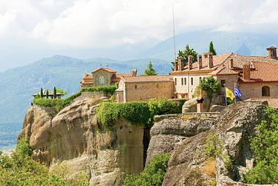 Photograph - The Holy Monastery Of St. Stephen, Meteora, Greece by Marek Poplawski