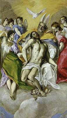 Spain Painting - The Holy Trinity by El Greco