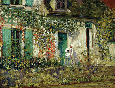 Frederick Painting - The House In Giverny by Frederick Carl Frieseke