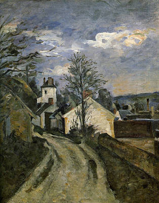Streetscape Painting - The House Of Dr. Gachet by Paul Cezanne