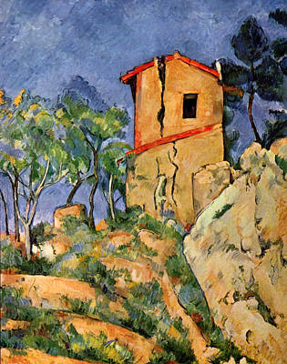 Wreck Painting - The House With Cracked Walls by Paul Cezanne