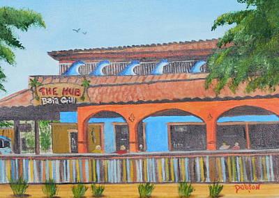 Painting - The Hub On Siesta Key by Lloyd Dobson