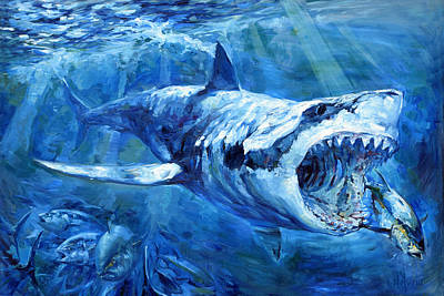 Sports Paintings - The Hunt by Tom Dauria