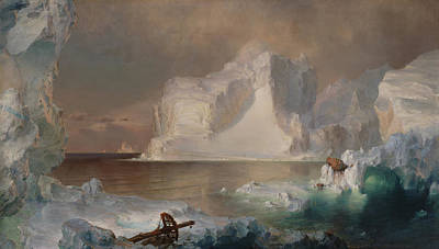 Iceberg Painting - The Icebergs by Frederic Edwin Church